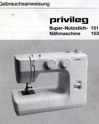 Bedienungsanleitung privileg nähmaschine