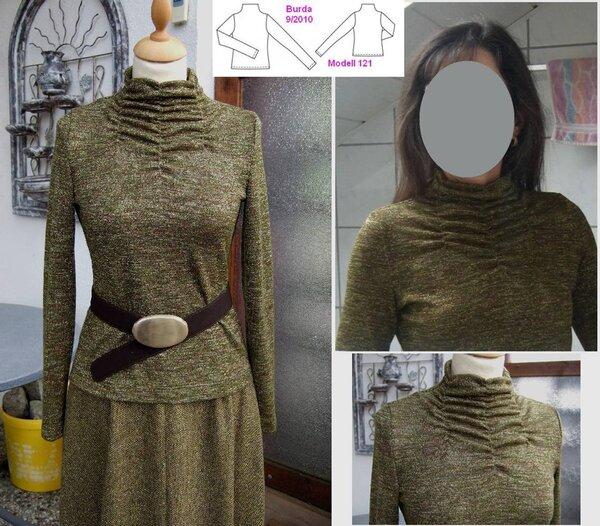 geraffte Schildkröte oder meine Version von Burda  09/2010 Modell 121