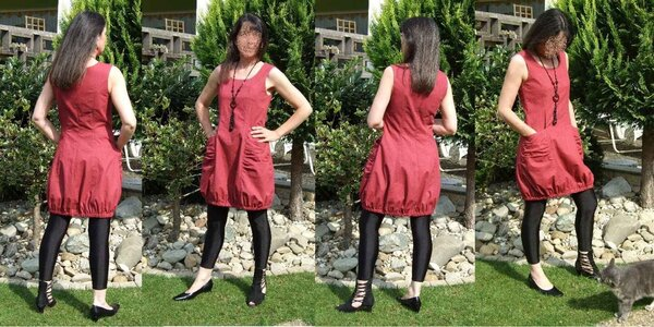 Ballonkleid Bubble Pocket nach Ottobre