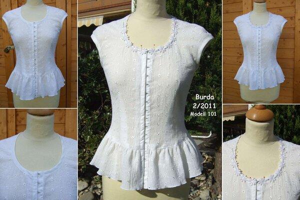 noch ein Blüschen nach Burda 2/2011 Modell 101