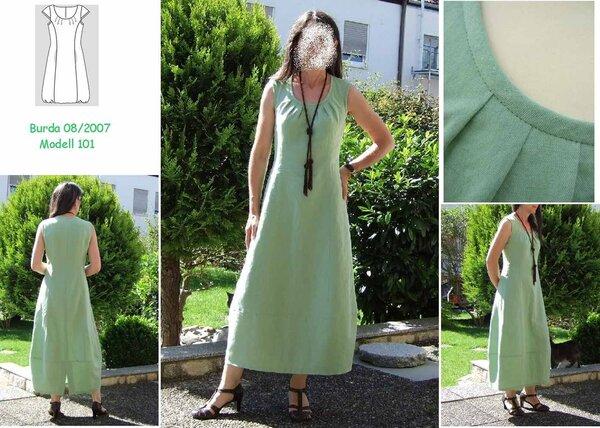 meine Version des Kleides aus Burda 8/2007