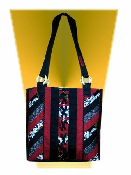 Tasche Schwarz/Rot