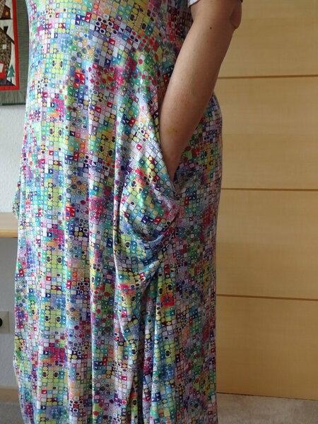 Tasche-Kleid wie grüngestreift