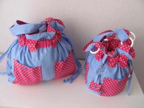 meine Highlights dieses Jahr- Strandtasche und passender Kinderbeutel/säckchen.