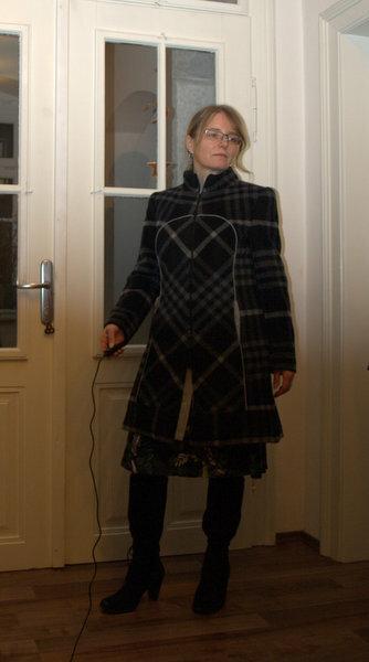 Karomantel  Burda 11/2003 Wolle vom BettyBarclayStoffverkauf