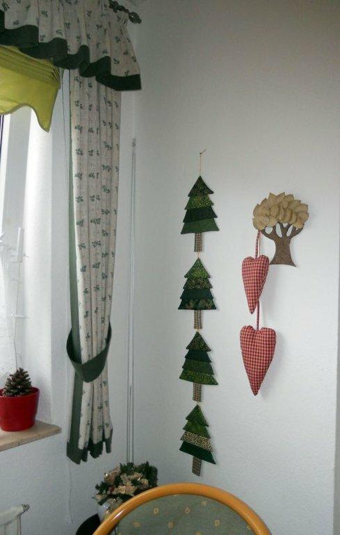 Tannenbäumchen schöne Tannenbäumchen zu Weihnachten genäht.