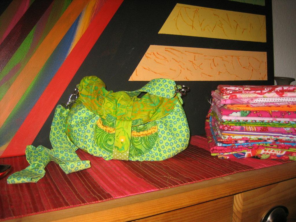 Diese Tasche möchte ich nochmals nähen. Sie könnte allerdings ein wenig größer sein.