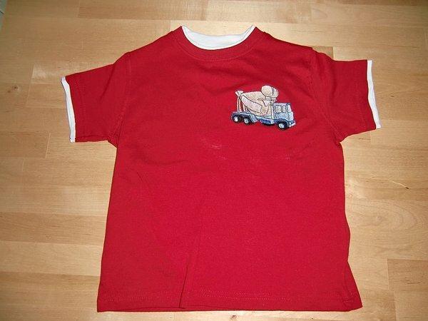 T Shirt Zementlaster Unterlage: 2+ Abreissvlies, Garn Madeira und Marathon.