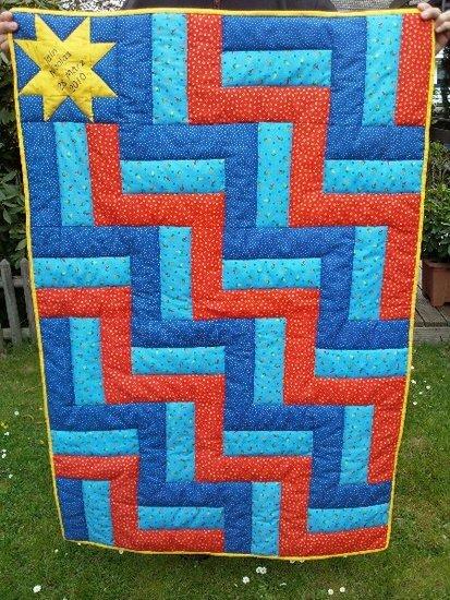 Baby-Kuschel-Quilt für ganz liebe Freunde. Genäht mit der Maschine und handgequiltet.