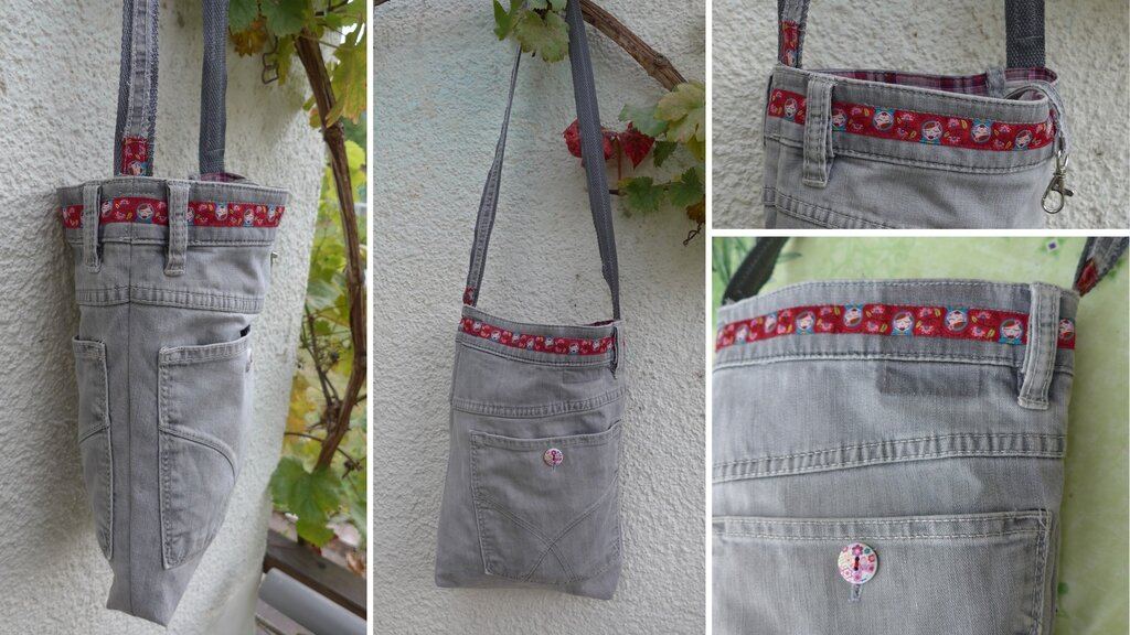 Upcycling-Tasche aus Jeanshose