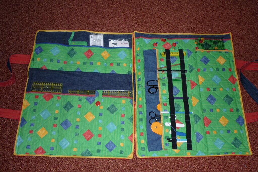 Tasche für Patchworkzubehör -Innenaufteilung