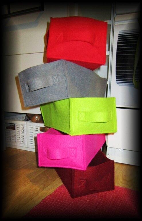 Schubladen aus Textilfilz
