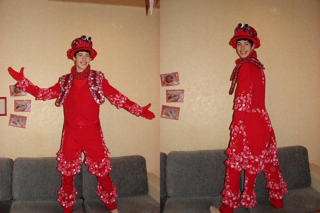 Musical-Kostüm Krabbe Sebastian (Arielle)