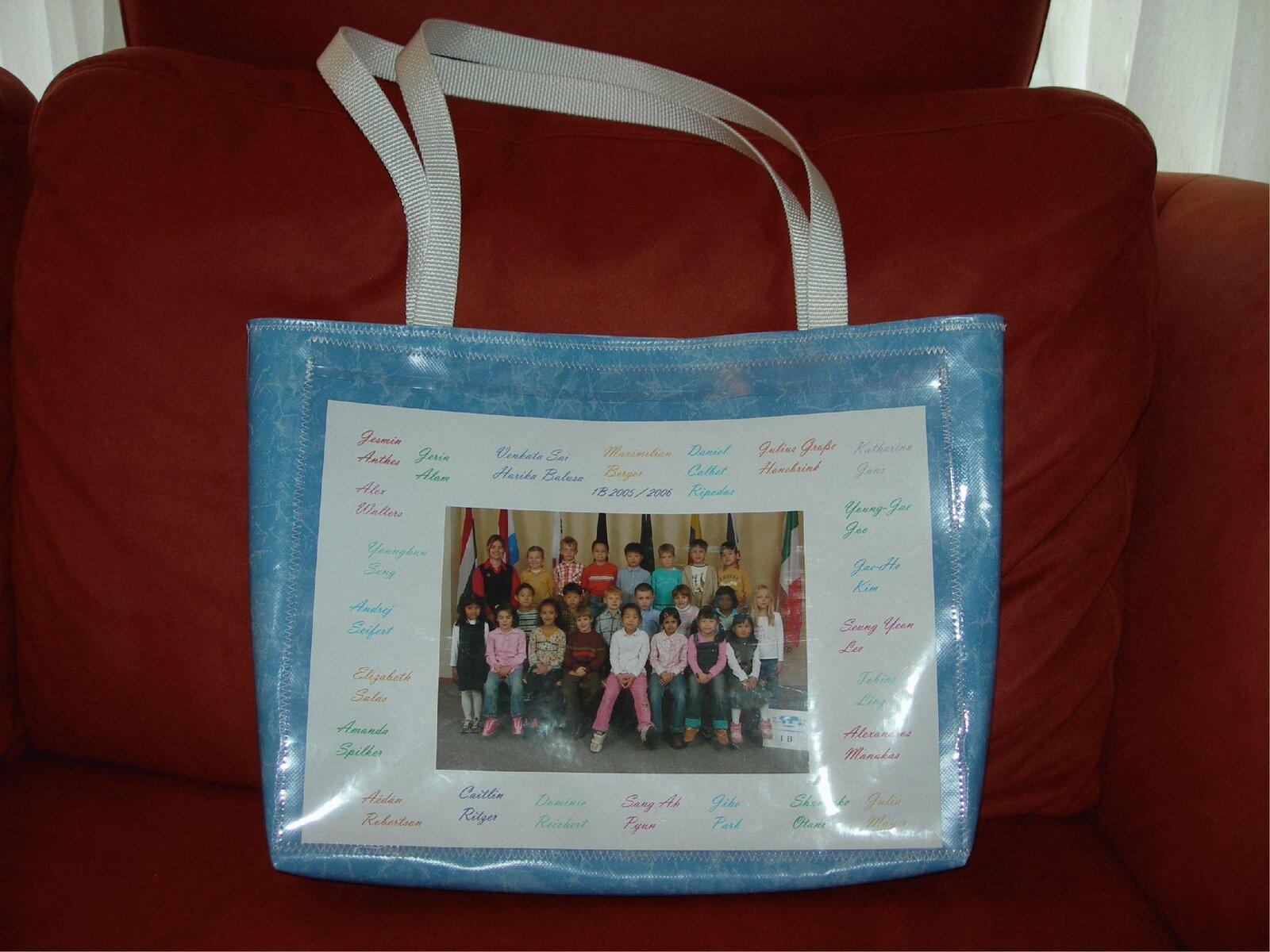 Tasche mit Photos (Lehrer-Jahresendgeschenk)