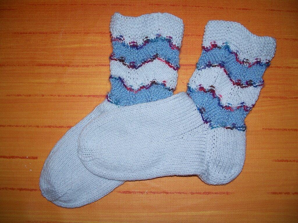 Wellenmuster-Socken