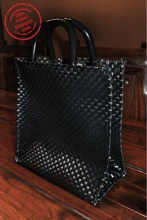 Lunchbag Handtasche aus Tischsets mit Griff