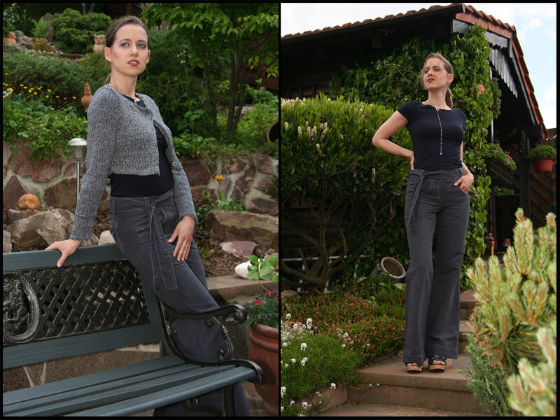 Hose Elegance Ottobre 2/09 und Shirt Modell 105 Burda 7/07