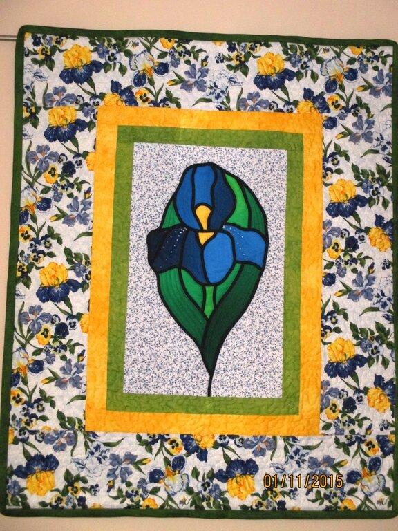 Wandbehang Iris