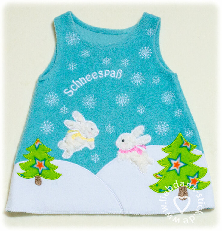 Schneespaß Kleid