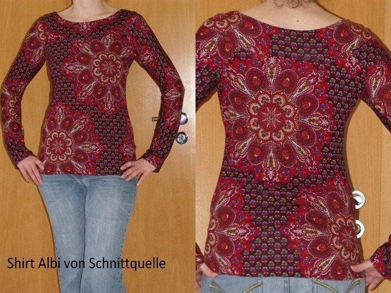 Shirt Albi von Schnittquelle in Gr. 40