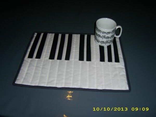 Tischset in Tastaturoptik