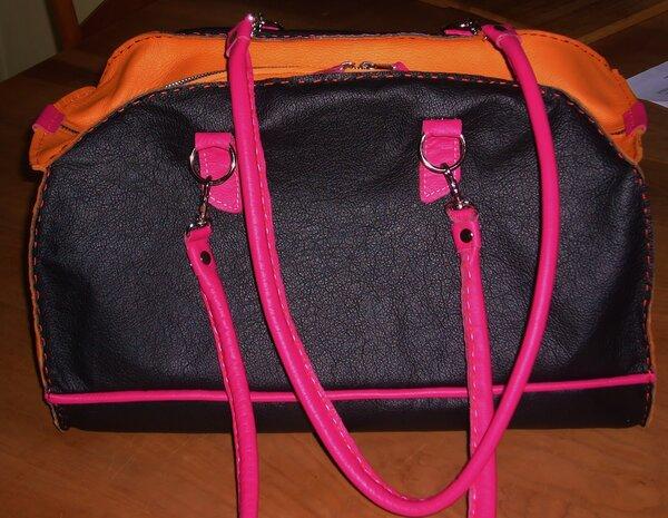 die erste... handgenähte Tasche