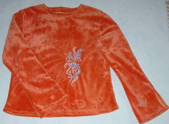 Shirt aus Microfun mit Stickerei