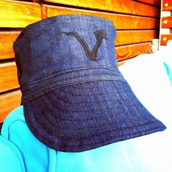 Military Cap mit Vegan-Logo und Sonnenbrillenschlaufen