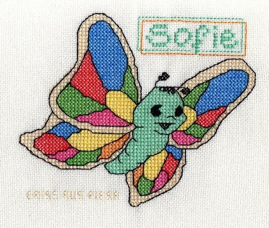 """Schmetterling fürs """"Kinderlächeln"""" (Entwurf von mir nach einer Zeichnung aus dem Netz)"""