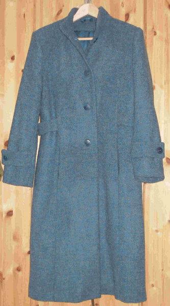 Mantel  Burda 11/2008, Nr. 116, Gr. 42 Oberstoff: Woll-Tweed petrol Futter: Venetia petrol und Wollwatteline