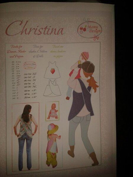 """""""Christina"""" von MamuDesign einmal auskopiert 4,50 €"""
