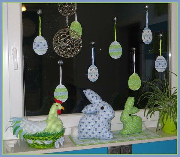 Mein osterlich dekoriertes Küchenfenster
