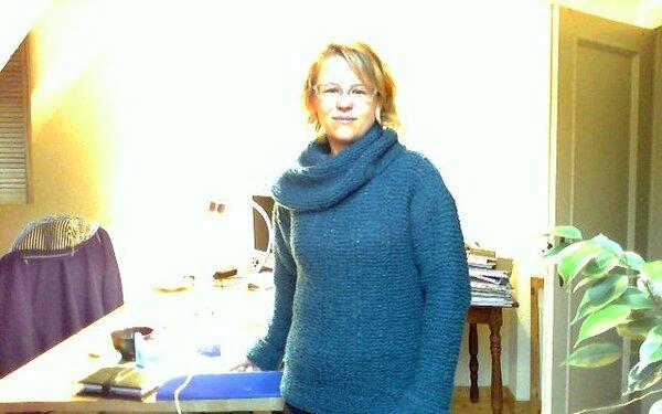 Mein allererster Pullover (wenn man mal von dem für meinen Teddy vor mehr als 20 Jahren absieht...)