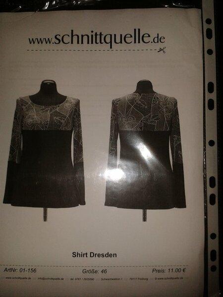"""Schnittquelle """"Shirt Dresden"""" Gr. 46 8,00 €"""