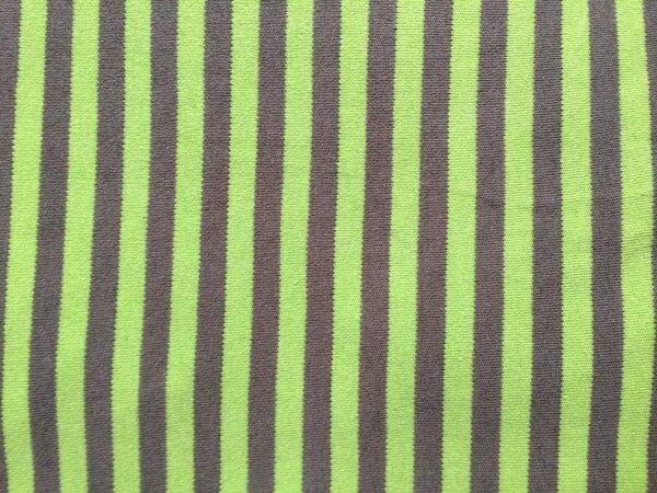 Interlock grün/braun gestreift  0,90 x 0,90 m