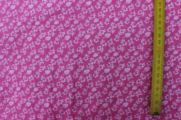 B5: BW-Webware Miniblümchen pink Eigentümer: ToniMama 78 x 296 => 2,31 m²