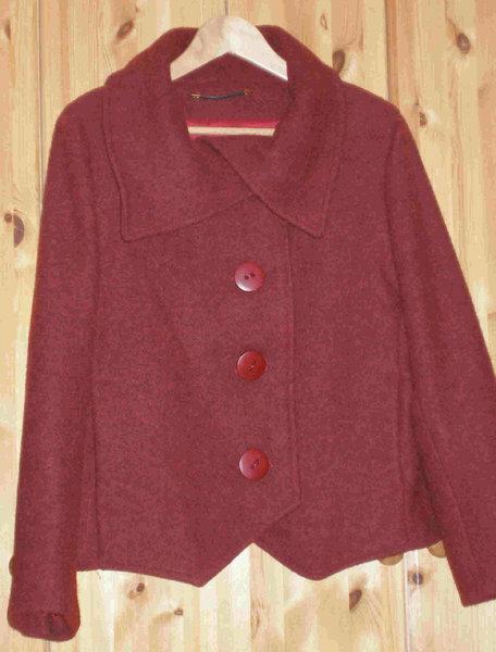 Jacke nach einem Kaufschnitt von Neue Mode Gr. 42, Stoff: Wolle-Alpaka Mischung, Innenfutter Venetia