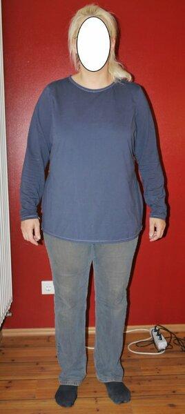 HS Shirt2 Vorderansicht inzwischen stark veränderter Ottobre Shirt Schnitt aus dem Creative Set