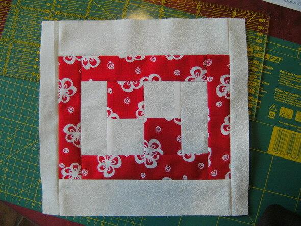 2. Block rot/weiß