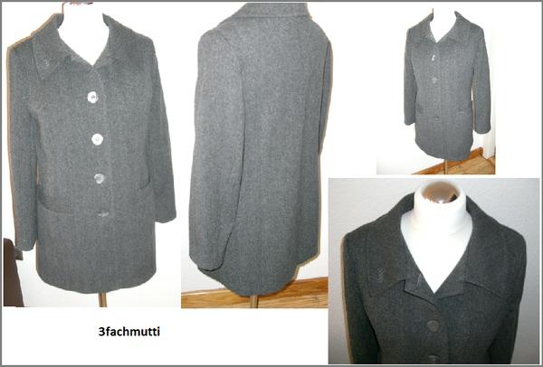 Mantel_Wolle/Schurwolle Burda 8292 Gr.40 D Fischgrat - daraus wollte ich schon immer mal einen Mantel haben, nun hab ich es mit Änderungen am Schnitt passend auf mich endlich geschafft und als Futter meinen Rosenstoff verwendet :-))