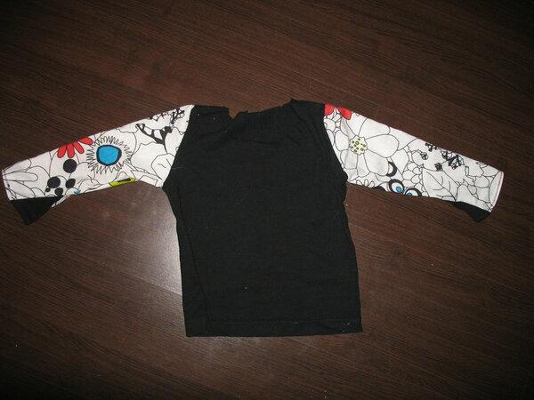 Schwarzer Jersey altes T-shirt von mir Ärmel war mal ein Kissenbezug