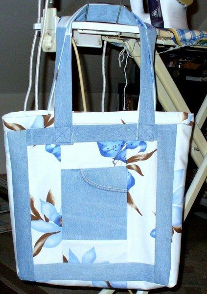 Einkaufstasche aus alter Jeanshose1
