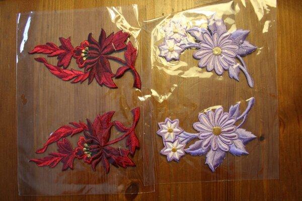 65. / 66. Blumen zum Aufbügeln