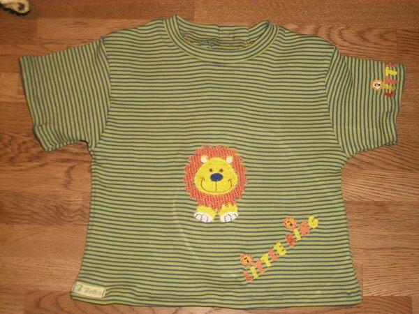 T Shirt mit Löwen bestickt