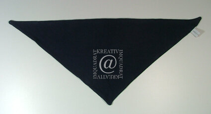 Dreieckstuch Jersey dunkelblau 1