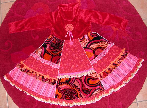 Rosenkleid nach Roos 3001