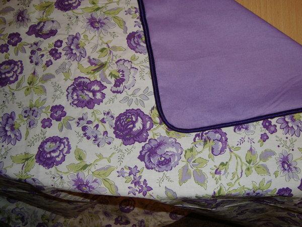 Romantische Bettwäsche Kederrand am Kopfkissen (Keder selbst hergestellt)