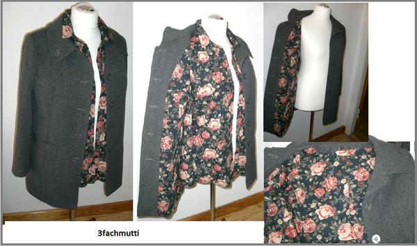 Rosen über Rosen.... Bluse Burda 7608 A + Mantel Burda 8292 in Kombination beides zusammen Futter im Mantel gleicher Stoff wie meine Bluse