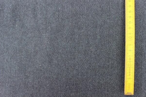 F3: Wollstoff Fischgrät blauschwarz Material: Mischgewebe Eigentümer: mcmopel 160 x 160 => 2,56 m²