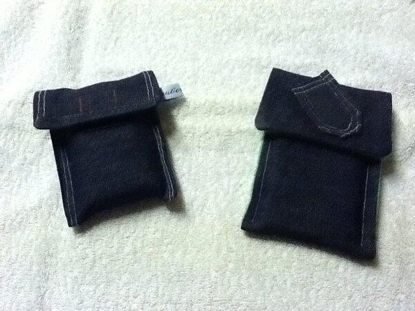 Jeanstasche für Digitalkamera und iPhone